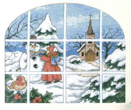 Рхема для вышивания зимнего